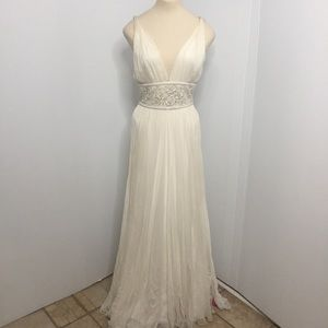 Vintage Silk Wedding Gown